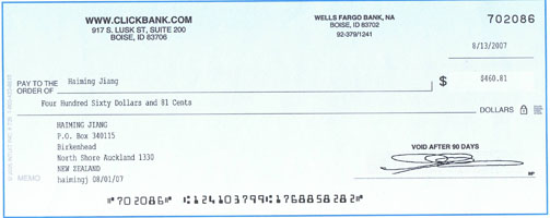 clickbank cheque 1